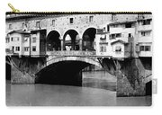 Ponte Vicchio Bridge In Florence Italy - C 1905 Carry-all Pouch