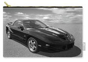 Pontiac Trans Am Ram Air In Black And White Carry-all Pouch