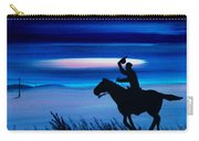 Pony Express Rider Blue Carry-all Pouch