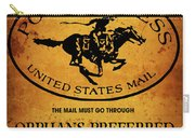 Pony Express Wanted Poster Carry-all Pouch
