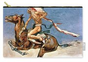 Pony War Dance Carry-all Pouch by Frederic Remington