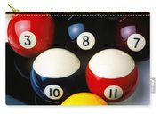 Pool Balls On Tiles Carry-all Pouch by Garry Gay