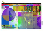Pop-art Colorized One Hundred Euro Bill Carry-all Pouch