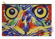 Pop Art Owl Face-1 Carry-all Pouch