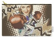 Pop Art Photo Illustration. Cartoon Comic Boxer Carry-all Pouch by Jorgo Photography - Wall Art Gallery