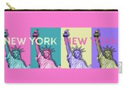 Pop Art Statue Of Liberty - New York New York - Panoramic Carry-all Pouch