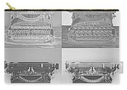 Pop Art Typewriter Collage Black And White Carry-all Pouch