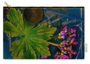 Popart With Fantasy Flowers Carry-all Pouch