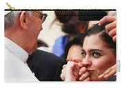 Pope Francis And Woman Painting  Carry-all Pouch