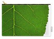 Poplar Leaf A Key To Biofuels Carry-all Pouch