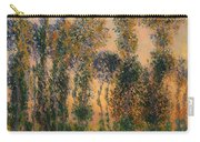 Poplars At Giverny - Sunrise Carry-all Pouch