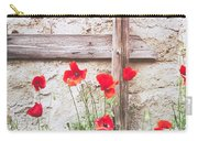 Poppies Against Wall Carry-all Pouch