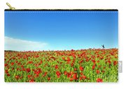 Poppies And A Photographer Carry-all Pouch
