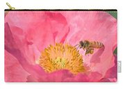 Poppies And Bumble Bee Carry-all Pouch