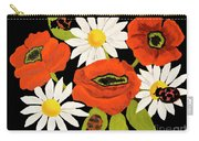 Poppies And Camomiles, Oil Painting Carry-all Pouch