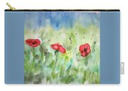 Poppies And Dandelions Carry-all Pouch