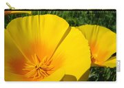 Poppies Art Poppy Flowers 4 Golden Orange California Poppies Carry-all Pouch