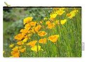Poppies Hillside Meadow Landscape 19 Poppy Flowers Art Prints Baslee Troutman Carry-all Pouch