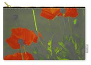 Poppies In Neon Carry-all Pouch