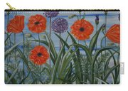 Poppies, Iris, Giant Alium Carry-all Pouch