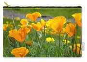 Poppies Meadow Summer Poppy Flowers 18 Wildflowers Poppies Baslee Troutman Carry-all Pouch