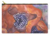 Poppies On Blue Carry-all Pouch