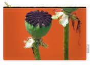 Poppies On Orange Carry-all Pouch