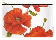 Poppies On White Carry-all Pouch