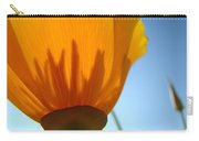 Poppies Sunlit Poppy Flower 1 Wildflower Art Prints Carry-all Pouch