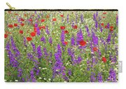 Poppy And Wild Flowers Meadow Nature Scene Carry-all Pouch