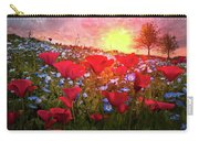Poppy Fields At Dawn Carry-all Pouch