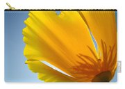 Poppy Flower Art Print Poppies 13 Botanical Floral Art Blue Sky Carry-all Pouch