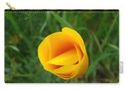 Poppy Flower Bud 9 Orange Poppies Green Meadow Art Prints Baslee Troutman Carry-all Pouch