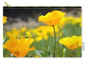 Poppy Flower Meadow 11 Poppies Art Prints Canvas Framed Carry-all Pouch