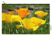 Poppy Flower Meadow 14 Poppies Orange Flowers Giclee Art Prints Baslee Troutman Carry-all Pouch