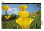 Poppy Flower Meadow 7 Poppies Blue Sky Artwork Baslee Troutman Carry-all Pouch