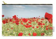 Poppy Flowers Field Nature Spring Scene Carry-all Pouch