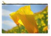 Poppy Flowers Meadow 3 Sunny Day Art Blue Sky Landscape Carry-all Pouch