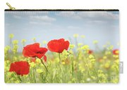 Poppy Flowers Nature Spring Scene Carry-all Pouch