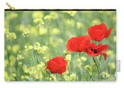 Poppy Flowers Spring Scene Carry-all Pouch