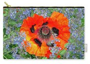 Poppy In Blue Carry-all Pouch