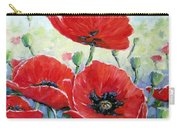 Poppy Love Floral Scene Carry-all Pouch