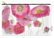 Poppy Painting On White Background Carry-all Pouch