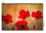 Poppy Triptych Carry-all Pouch