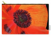 Poppy With Raindrops 2 Carry-all Pouch