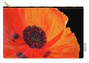 Poppy With Raindrops 3 Carry-all Pouch