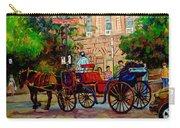 Popular Quebec Artists Carole Spandau Painter Of Scenes De Rue Montreal Street Scenes Carry-all Pouch