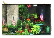 Porch With Geraniums And American Flags Carry-all Pouch