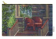 Porch With Red Wicker Chairs Carry-all Pouch