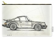 Porsche 930 Turbo Carry-all Pouch by Juan Bosco